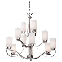 Russell Hill 12 Light 34 inch Polished Nickel Chandelier Ceiling Light