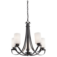 Russell Hill 5 Light 26 inch Oil Rubbed Bronze Chandelier Ceiling Light