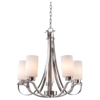 Russell Hill 5 Light 26 inch Polished Nickel Chandelier Ceiling Light