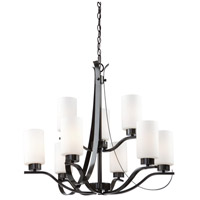 Russell Hill 9 Light 28 inch Oil Rubbed Bronze Chandelier Ceiling Light