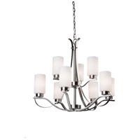 Russell Hill 9 Light 28 inch Polished Nickel Chandelier Ceiling Light