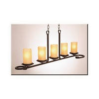 Artcraft Lighting Candlelight 5 Light Island Light in Oil Rubbed Bronze AC1705AM