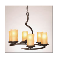 Artcraft Lighting Candlelight 6 Light Chandelier in Oil Rubbed Bronze AC1706AM