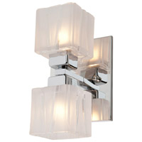 Hampton 2 Light 9 inch Chrome Bathroom Vanity Wall Light