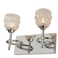 Helene 2 Light 12 inch Chrome Bathroom Vanity Wall Light