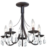Terramo 5 Light 17 inch Dark Chocolate Chandelier Ceiling Light