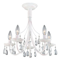 Artcraft Lighting Terramo 5 Light Chandelier in Pink AC1765PK