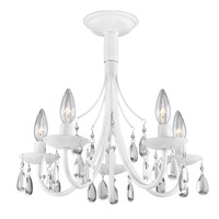Terramo 5 Light 17 inch White Chandelier Ceiling Light