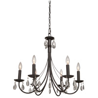 Terramo 6 Light 27 inch Dark Chocolate Chandelier Ceiling Light