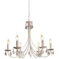 Artcraft Lighting Terramo 6 Light Chandelier in White AC1766WH