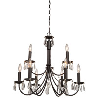 Terramo 9 Light 28 inch Dark Chocolate Chandelier Ceiling Light