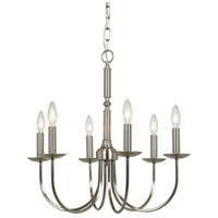 Wrought Iron 6 Light 23 inch Stainless Steel Pot Rack Chandelier Ceiling Light