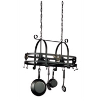Signature 2 Light 31 inch Ebony Black Pot Rack Ceiling Light in 16.5, 30.5