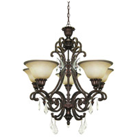 Florence 5 Light 28 inch Multi Tone Bronze Chandelier Ceiling Light