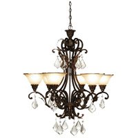 Florence 6 Light 31 inch Multi Tone Bronze Chandelier Ceiling Light