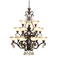 Florence 18 Light 44 inch Multi Tone Bronze Chandelier Ceiling Light