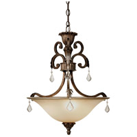 Florence 3 Light 19 inch Multi Tone Bronze Pendant Ceiling Light