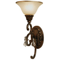 Florence 1 Light 8 inch Multi Tone Bronze Wall Bracket Wall Light