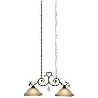 Florence 2 Light 42 inch Multi Tone Bronze Island Light Ceiling Light