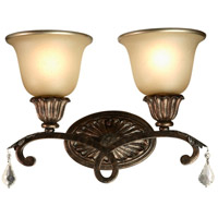 Florence 2 Light 16 inch Multi Tone Bronze Bathroom Vanity Wall Light