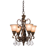 Florence 4 Light 20 inch Multi Tone Bronze Chandelette Ceiling Light