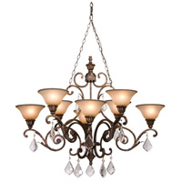 Florence 8 Light 43 inch Gold Chandelier Ceiling Light