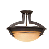 Artcraft Lighting Maestro 3 Light Flush Mount in Oil Rubbed Bronze AC2190 photo thumbnail