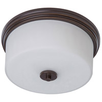 ARTCRAFT Russell Hill 2 Light Flush Mount in Polished Nickel AC2193PN