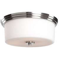 Russell Hill 2 Light 15 inch Polished Nickel Flush Mount Ceiling Light