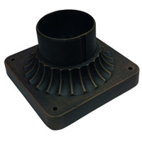 Classico 4 inch Black Outdoor Post Fitter