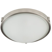 Boise 1 Light 10 inch Brushed Nickel Flush Mount Ceiling Light