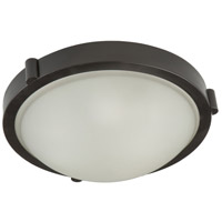 Boise 1 Light 10 inch Oil Rubbed Bronze Flush Mount Ceiling Light
