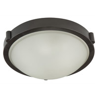 Boise 2 Light 13 inch Oil Rubbed Bronze Flush Mount Ceiling Light