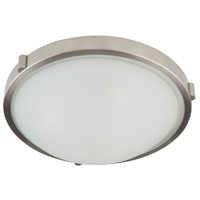 Boise 3 Light 17 inch Brushed Nickel Flush Mount Ceiling Light