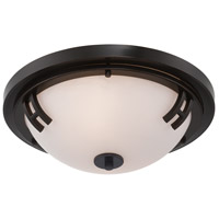 ARTCRAFT Andover 2 Light Flush Mount in Oil Rubbed Bronze AC2331OB