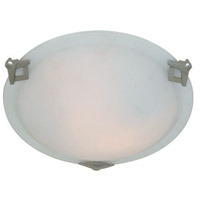 Clip 2 Light 12 inch Brushed Nickel Flush Mount Ceiling Light