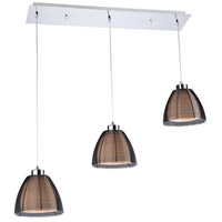 San Jose 3 Light 32 inch Black Island Light Ceiling Light