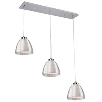 San Jose 3 Light 32 inch Silver Leaf Island Light Ceiling Light