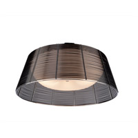 Artcraft Lighting San Jose 3 Light Flush Mount in Black AC314BK
