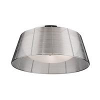 San Jose 3 Light 16 inch Silver Leaf Flush Mount Ceiling Light