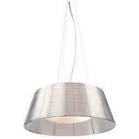 San Jose 3 Light 16 inch Silver Leaf Pendant Ceiling Light