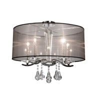 Artcraft Lighting Contessa 4 Light Flush Mount in Chrome AC364