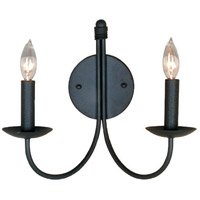 Pot Racks 2 Light 14 inch Ebony Black Wall Bracket Wall Light