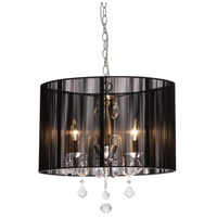Artcraft Lighting Claremont 4 Light Chandelier in Polished Nickel AC380BK