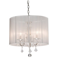 Artcraft Lighting Claremont 4 Light Chandelier in Polished Nickel AC380WH