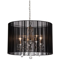 ARTCRAFT Claremont 5 Light Chandelier in Black AC381BK