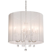 Artcraft Lighting Claremont 8 Light Chandelier in Polished Nickel AC382WH