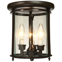Artcraft Lighting Manor 3 Light Flush Mount in Bronze AC4320BZ