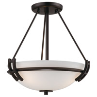ARTCRAFT Andover 2 Light Semi Flush in Oil Rubbed Bronze AC4333OB