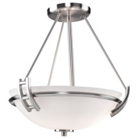 Andover 2 Light 13 inch Polished Nickel Semi Flush Mount Ceiling Light